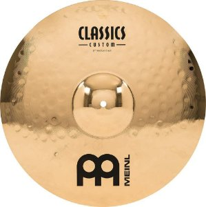 "Meinl 17 ""Medium Crash Cymbal - Classics Custom Brilliant"
