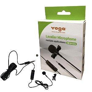 Microfone De Lapela Com Fio YTM-012 - YOGA -