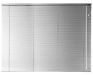 Persiana Horizontal 25 mm 1,40 m largura e altura de 0,80 cm até 2,30 m Acionamento Direito