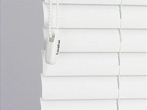 PERSIANA HORIZONTAL 50 MM PVC BRANCA C/ CADARÇO LARGURA 0,80 X 2,09 ALTURA ACIONAMENTO ESQUERDA