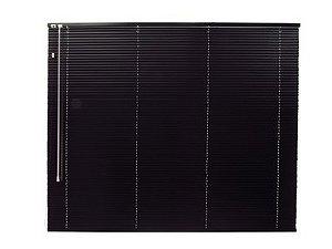 Persiana Horizontal 25 mm Largura 2,20 x 1,60 Altura preta
