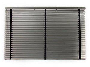 Persiana Horizontal Alumínio 50 mm com fita Largura 1,60 x 1,40 Altura Prata