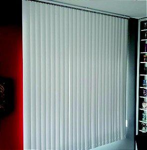 PERSIANA VERTICAL PVC Largura 1,60 X 1,40 Altura BRANCA