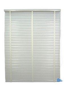 Persiana Horizontal PVC 50 mm com fita Largura 1,35 x 1,35 Altura Branco