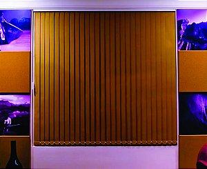 PERSIANA VERTICAL PVC LARGURA 1,35 X 1,35 ALTURA CAMURÇA