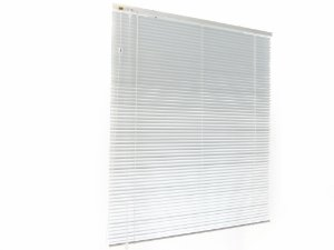 Persiana Horizontal 25 mm Largura 1,20 x 1,20 Altura White Gloss