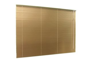 PERSIANA HORIZONTAL 25 MM BLACKOUT LARGURA 2,20 X 1,60 ALTURA DOURADO