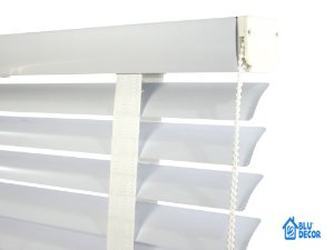 Persiana Horizontal Alumínio 50 mm com fita Largura 1,10 x 2,30 Altura Branca