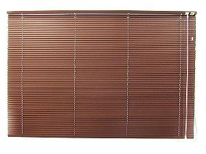 Persiana Horizontal 25 mm Largura 2,00 x 2,30 Altura Milk Chocolate