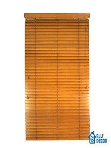 Persiana Horizontal Madeira 50 mm Bamboo Largura 2,00 x 2,30 Altura Cinza