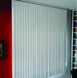 PERSIANA VERTICAL PVC LARGURA 2,10 X 2,30 ALTURA BRANCA