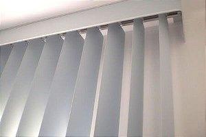 PERSIANA VERTICAL PVC LARGURA 1,50 X 1,50 ALTURA CINZA