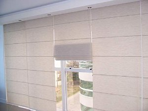 CORTINA ROMANA SCREEN 5% LARGURA 2,20 X 1,60 ALTURA. IVORY