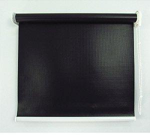 Cortina Rolô Pinpoint Blackout Crisdan 1,20 Largura X 1,20 Altura Preto