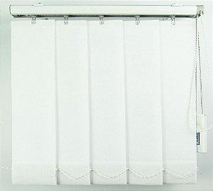 Persiana Vertical Em Tecido Blackout Crisdan Largura 2,20 X 1,60 Altura Branco