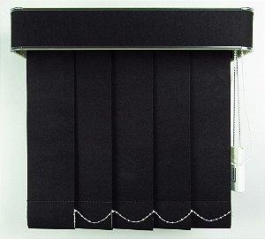 Persiana Vertical Em Tecido Com Bando Crisdan Largura 1,80 X 1,50 Altura Preto