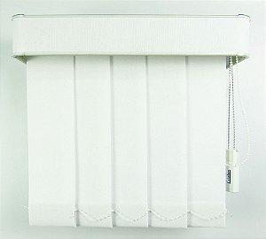 Persiana Vertical Em Tecido Com Bando Crisdan Largura 2,10 X 2,20 Altura Branco