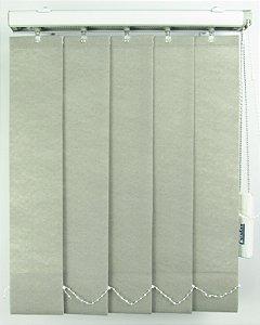 Persiana Vertical Em Tecido Crisdan Largura 1,35 X 1,35 Altura Cinza