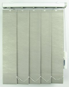 Persiana Vertical Em Tecido Crisdan Largura 1,50 X 1,50 Altura Cinza