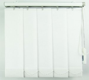 Persiana Vertical Em Tecido Crisdan Largura 1,90 X 2,30 Altura Branco