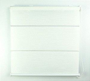 Cortina Romana Napoles Translúcido Crisdan 1,50 Largura X 1,50 Altura Branco