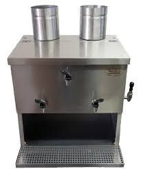 Máquina de Gelar Água de Coco  Dupla com Serpentina em Aço Inox