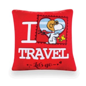 Almofada Snoopy I love travel
