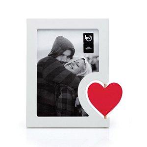 Porta retrato 13x18 coração giratório