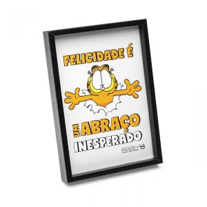 Quadrinho Garfield Felicidade