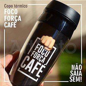 Copo térmico emoji Foco, força, café!