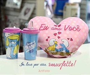 Almofada coração Smurfs