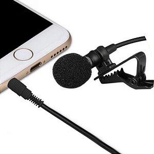 Microfone Lapela Condensador p/ DSLR e Smartphones GK-CM1