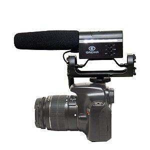 Microfone Direcional Condensador de Video GKSM10 para Cameras DSLR - Greika