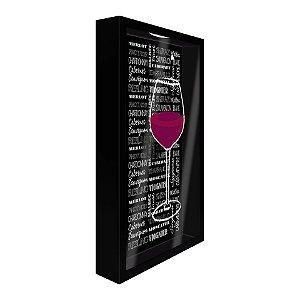 Porta Rolha de parede Taça de Vinho