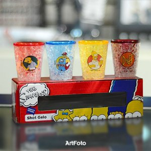 KIT COPOS DE SHOTS GELO 50ML SIMPSONS