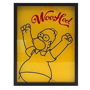Quadro porta tampinha Homer Simpson Woohoo
