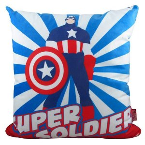 Almofada em fibra e veludo capitão América