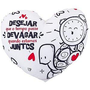 Almofada formato Coração - Amar é