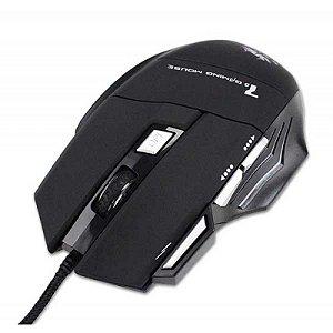 Mouse Gamer Emborrachado Knup Kp V4 2400Dpi C/ 6 Botoes E 7 Cores De Led