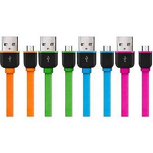 Cabo Micro USB 2 Metros Smartogo Verde