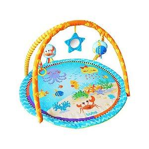 Tapete de Atividades com Espelho e Brinquedos Oceano Buba