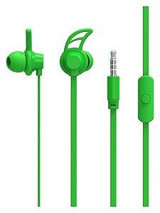 Fone De Ouvido Sport Neon Series Hook Verde