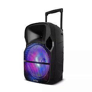 Caixa Amplificadora 150W RMS Bluetooth + Microfone sem Fio M
