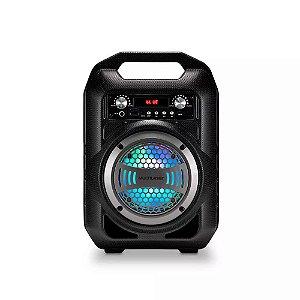 Caixa de Som 6 em 1 Bluetooth 50w RMS Karaokê Rádio FM Mul