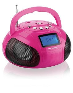 Caixa De Som Mini Boom Box 10w Rosa Multilaser - SP146