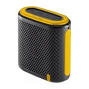 Caixa de Som Mini Bluetooth/SD/P2 10W RMS Preta e Amarela Pu