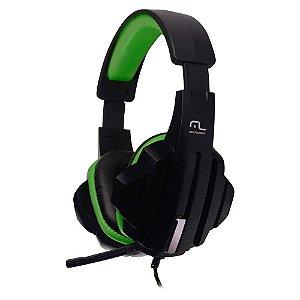 Fone De Ouvido Headset Gamer P2/Cabo Nylon Verde Multilaser