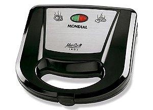 Grill e Sanduicheira Mac Grill Inox 220V Mondial - S-11