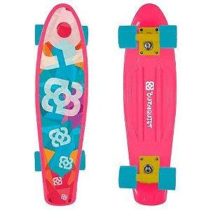 Skate Mini Cruiser Bob Burnquist Rosa Multikids - ES092