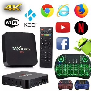Kit Tv Box Pro 4k Android 2gb Ram 16gb + Mini Teclado  Led